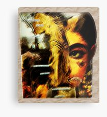 Angelface Collage (Warm Tones) Metal Print