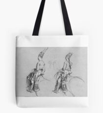 "Two Equestrian Figures, Possibly a Study for ""George IV, Prince of Wales"" Tote Bag"
