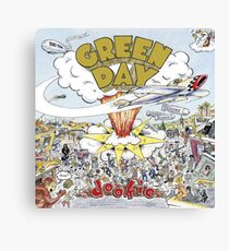 Green Day Dookie Album Cover Canvas Print