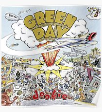 Green Day Dookie Album Cover Poster