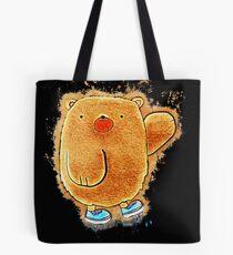 Bear cartoon glowing Art Tote Bag