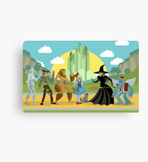 wizard of oz characters Canvas Print
