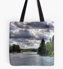 Wide Flathead River Tote Bag