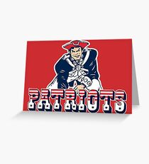 NE Pats- Vintage Greeting Card