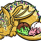 Waffle Cone Momma Dragon by Rebecca Golins