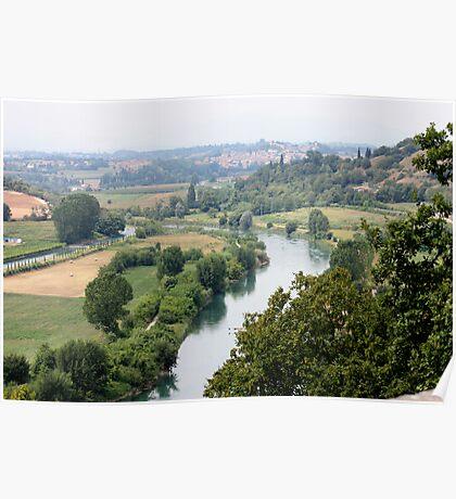 The River Mincio and morainic hills Poster