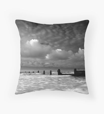 Daybreak by the Sea BW Throw Pillow