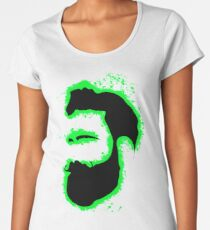 Man vector green and black silhouette Women's Premium T-Shirt