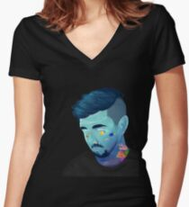 Oh Sean Man Women's Fitted V-Neck T-Shirt