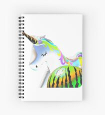 The Unicorn and the Watermelon  Spiral Notebook