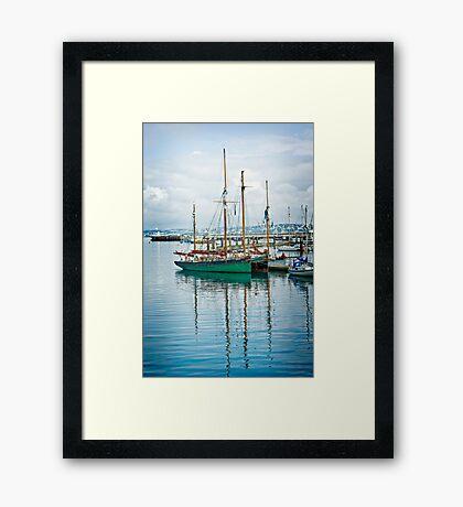 Yachts at Brixham Framed Print