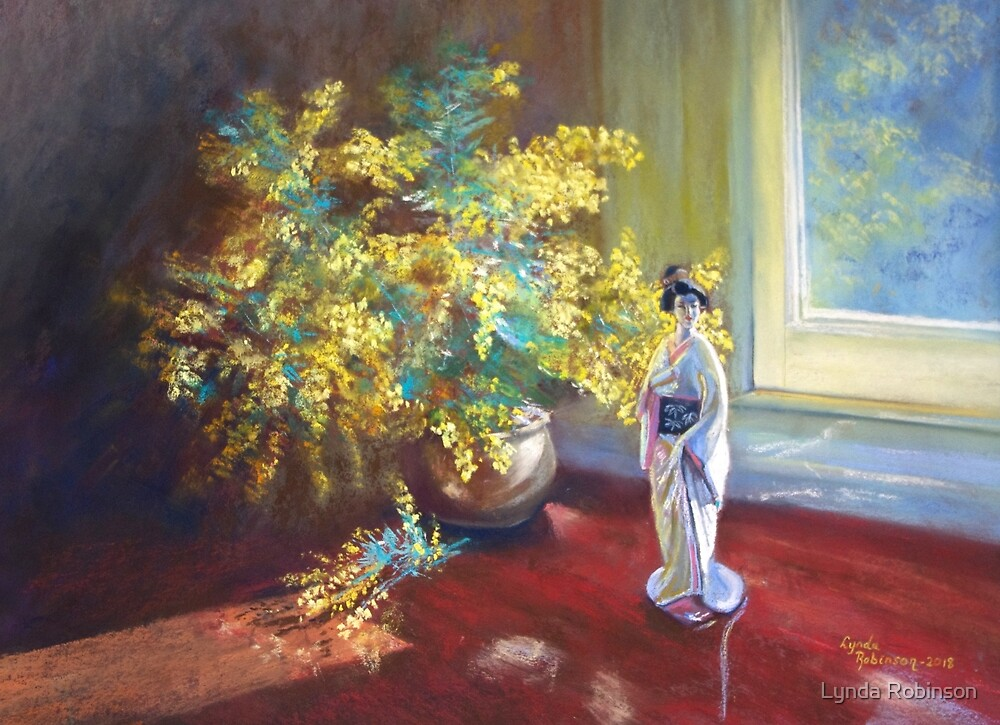 'Still LIfe with Wattle' by Lynda Robinson