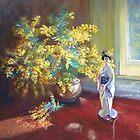 'Still LIfe with Wattle' by Lynda Robinson