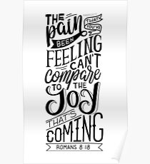 Romans 8:18 Bible Quote Poster