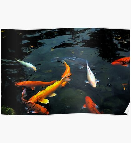 Those are some BIG goldfish Mama! Poster
