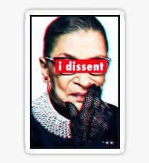 Ruth Bader Ginsburg I Dissent 3D Sticker