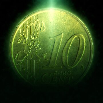 Digitally enhanced image of a 10 Euro Cents Nordic gold coin by PhotoStock-Isra