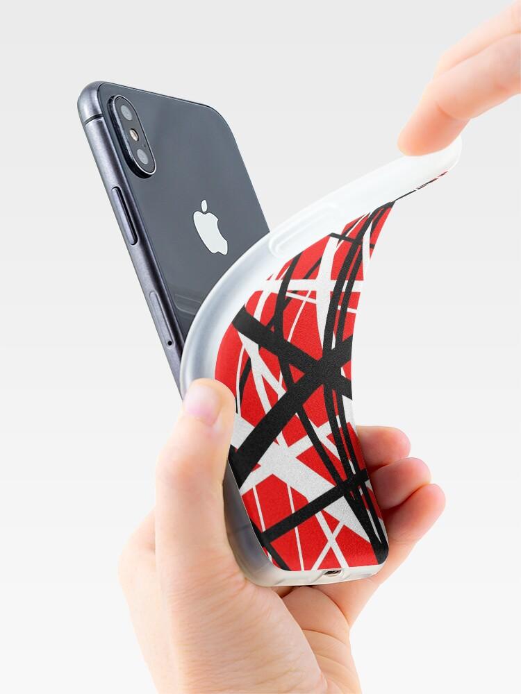 Alternative Ansicht von Frankenstein-Muster (rot) iPhone-Hüllen & Cover