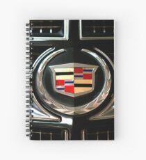 cadillac logo Emblem Spiral Notebook
