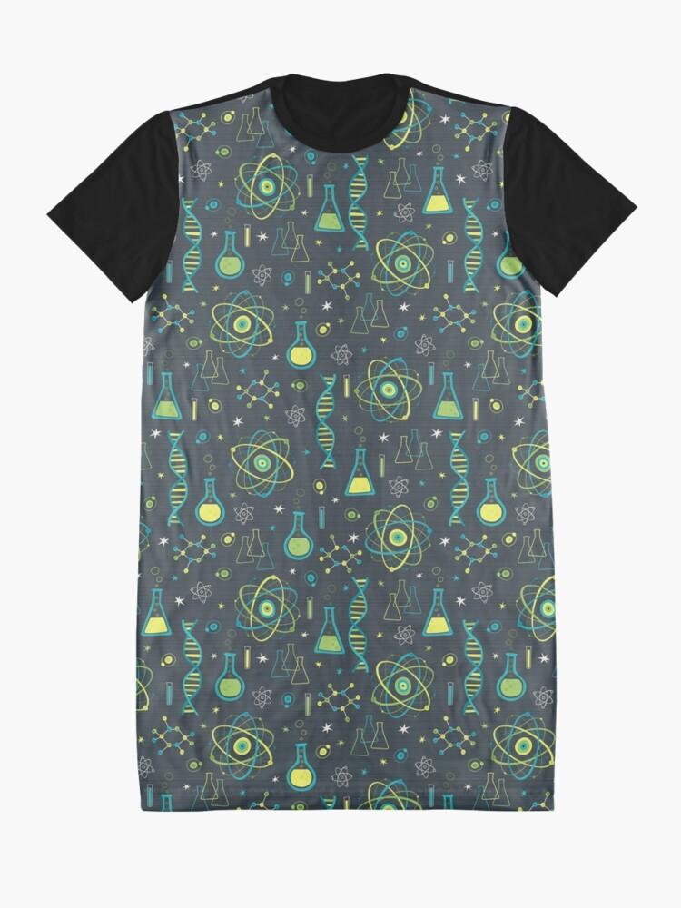 Alternate view of Midcentury Modern Science Graphic T-Shirt Dress