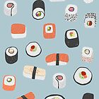 Sushi Roll Maki Nigiri Japanese Food Art by Nic Squirrell
