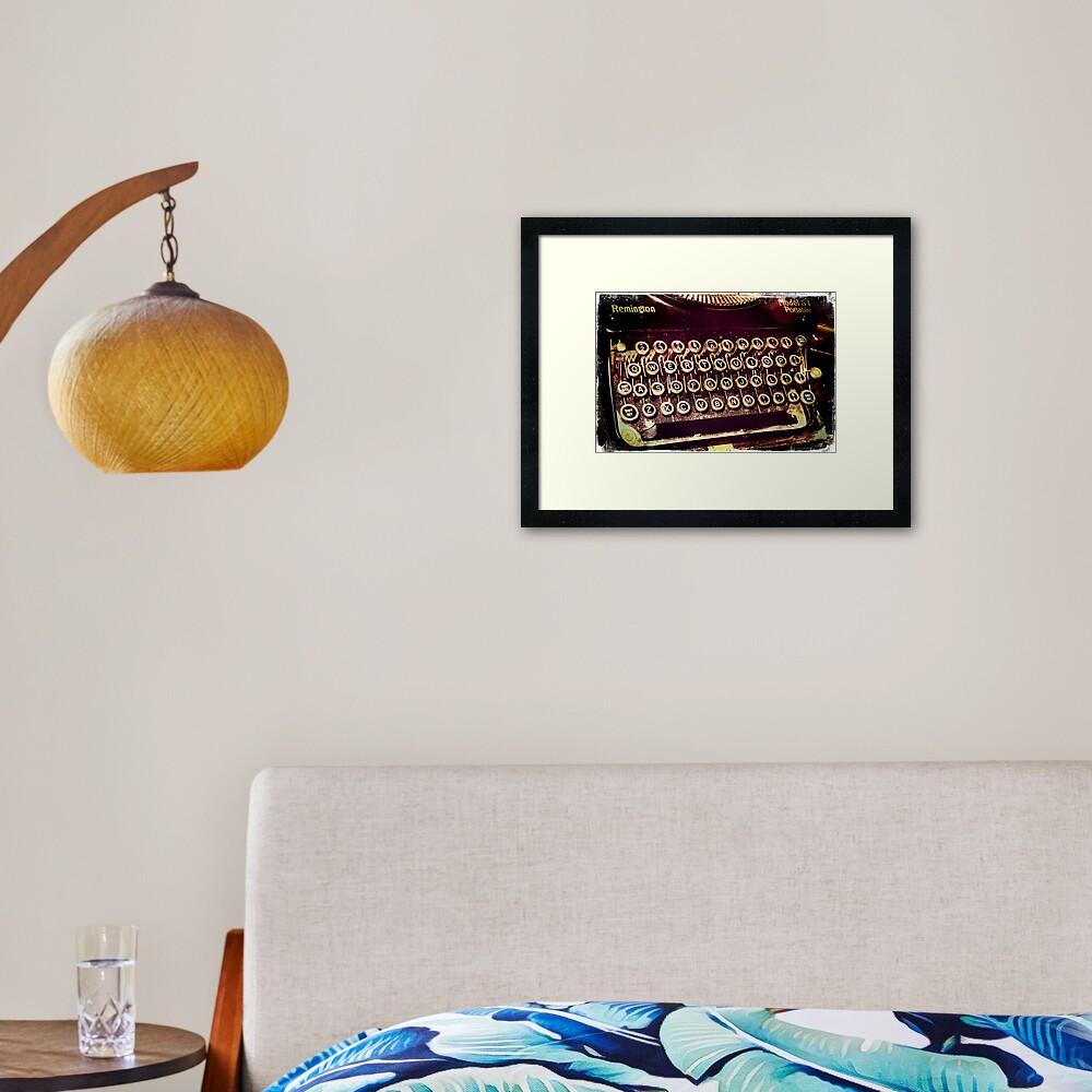 Enigma - Typewriter IV Framed Art Print