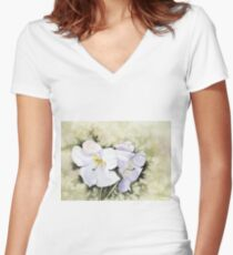 The heart of Inverewe Women's Fitted V-Neck T-Shirt