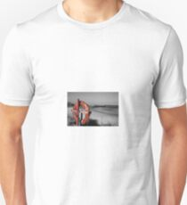 Hopeman beach with a splash of colour. Unisex T-Shirt