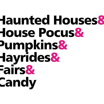 Haunted Houses Hocus Pocus Pumpkins Halloween by CreativeStrike