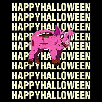 Happy Halloween Zombie Pig Halloween Costume by CreativeStrike