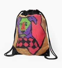 Lighting Bolt - Golf Dog Design Drawstring Bag