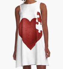 Puzzle heart A-Line Dress