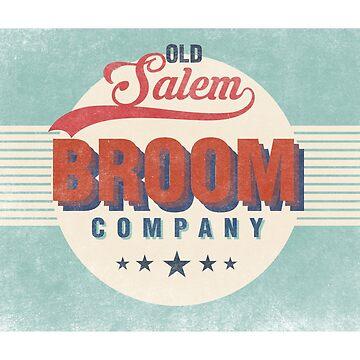 Old Salem Broom Company Vintage Halloween by CreativeStrike