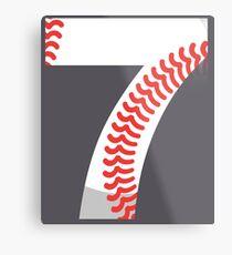 Number 7 Baseball #7 Metal Print