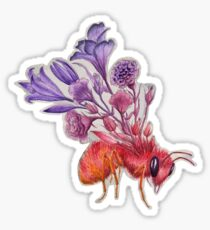 Bee on Concrete, Watercolor Painting Sticker