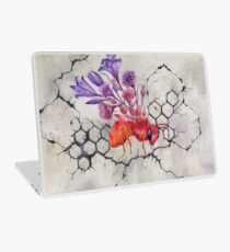 Bee on Concrete, Watercolor Painting Laptop Skin