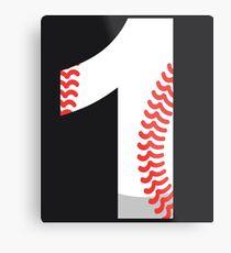 Number 1 Baseball #1 Metal Print