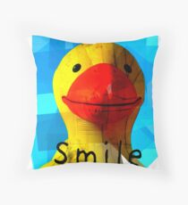 Smile and the whole world smiles with you.... Throw Pillow