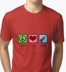 Peace Love Cello Tri-blend T-Shirt