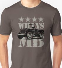 Military Vehicle Willys MB Classic Car Lover Gift Shirt Unisex T-Shirt