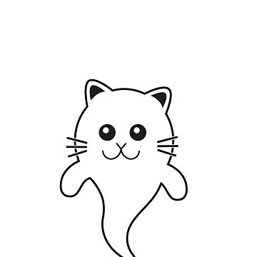 Funny Cute Halloween Cat Kitten Kawaii Ghost by studio-gj