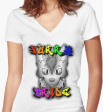Furry Pride Women's Fitted V-Neck T-Shirt