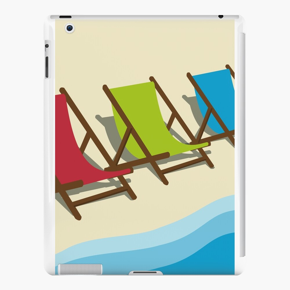 Deck Chairs on the Beach iPad Cases & Skins