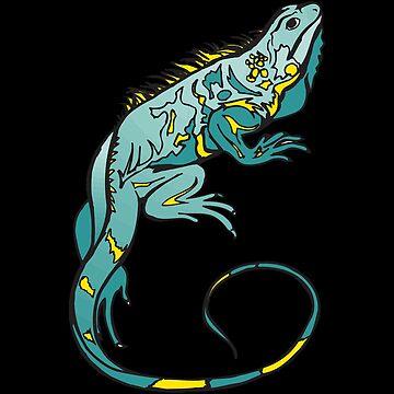 iguana bearded dragon reptile lizard animal by untagged-shop