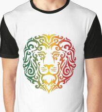 Rasta Lion Head Graphic T-Shirt