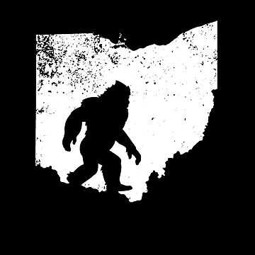 Bigfoot Sasquatch Sighted In State Of Ohio Shirt Gear by DynamicDesign