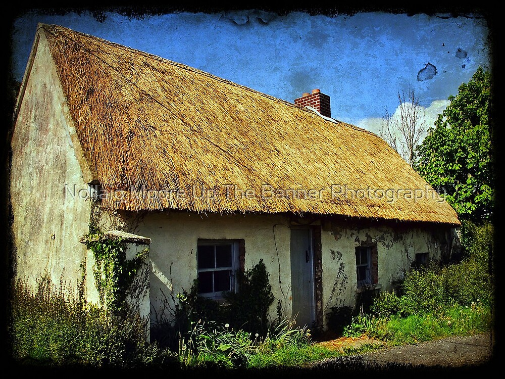 Old Irish thatch cottage, county clare, Ireland by Noel Moore Up The Banner Photography