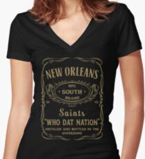 New Orleans Women's Fitted V-Neck T-Shirt
