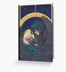 Starry Sky - Howl and Sophie Greeting Card