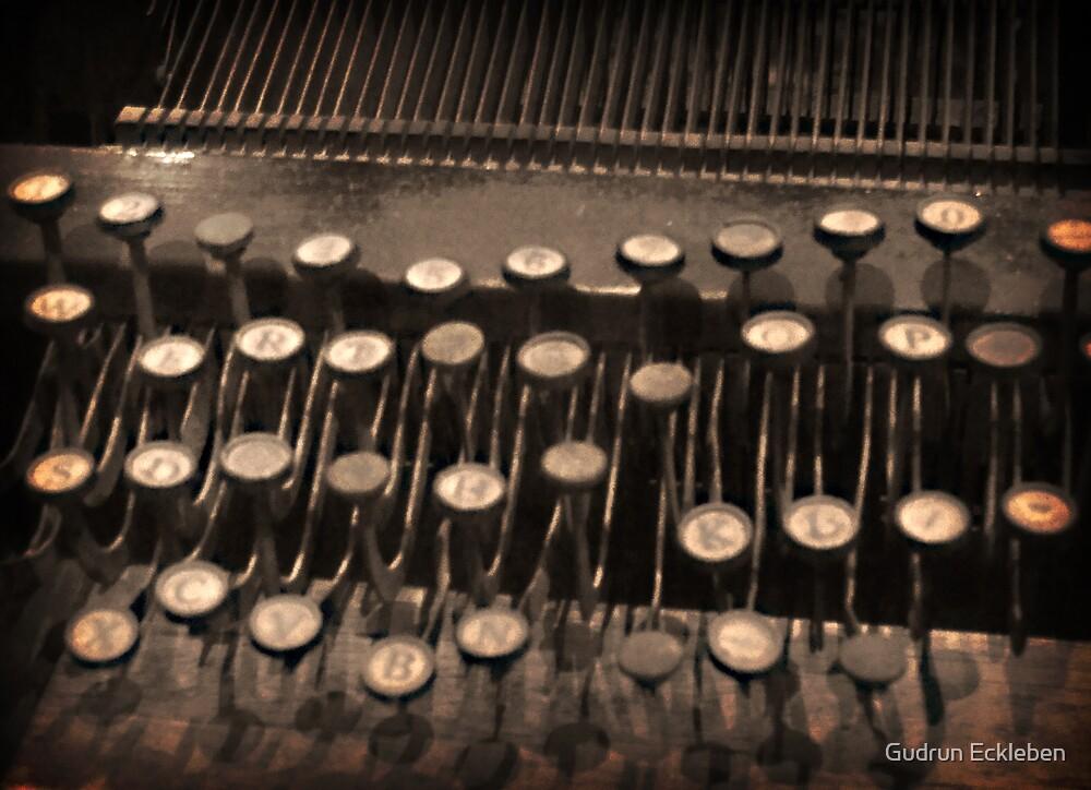 Typewriting by Gudrun Eckleben